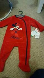 Brand new mothercare minnie onsie with labels
