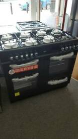 New graded Bush 100cm dual fuel range cooker with 12 months guarantee