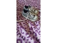 Leopard converse infant size 5