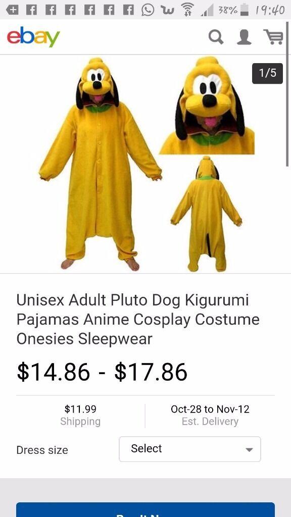 Adult pluto costume