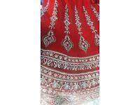 Swarovski Diamond Asian Bridal Wedding Dress