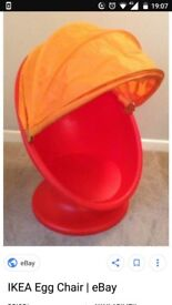 IKEA child's spinning egg chair