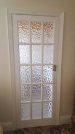 Good quality glazed internal doors