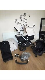 BUGABOO CAMELEON 3 TRAVELSYSTEM WITH TWO SEATS CARRYCOT AND MAXI COSI CARSEAT RRP £1400