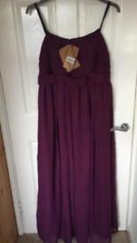 Unworn Long Purple Dress With Tags