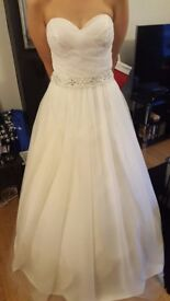 NEW OREASPOSA Ivory Wedding Dress Gown, Never worn, Never altered