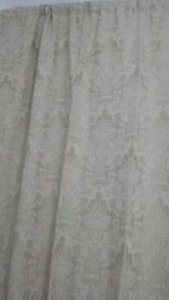 """Alexandria fully lined jacquard curtains 46""""x 90"""". Brand new never been used."""