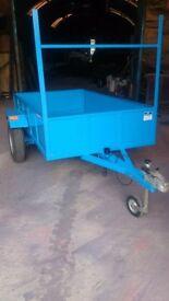 7 x 4 steel lined trailer, £350