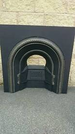 Stunning Victorian Black Cast iron Fire Surround