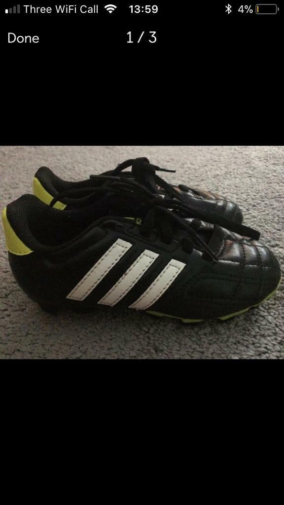 Adidas boys football boots size 10