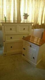 Solid Mexican pine wood drawers