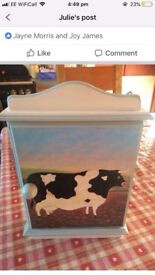 Lovely cow key cabinet