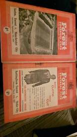 2 × Nottingham forest football programmes 1957