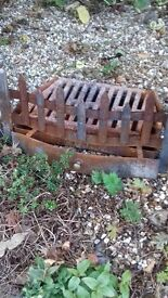 old fire grate with tray underneath