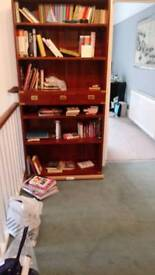 Military style, rosewood bookcase