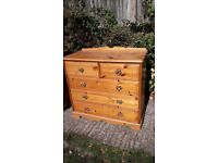 Chest of 2 over 3 drawers - pine