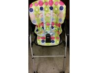 Baby highchair chicco with no table in front