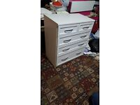 Brand new white chest of drawers £70