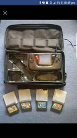 Sega game gear with games, sonic