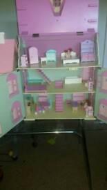 2 Wooden girls doll houses