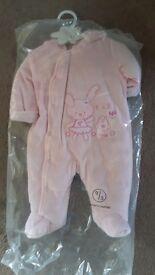 Baby girls brand new snowsuit