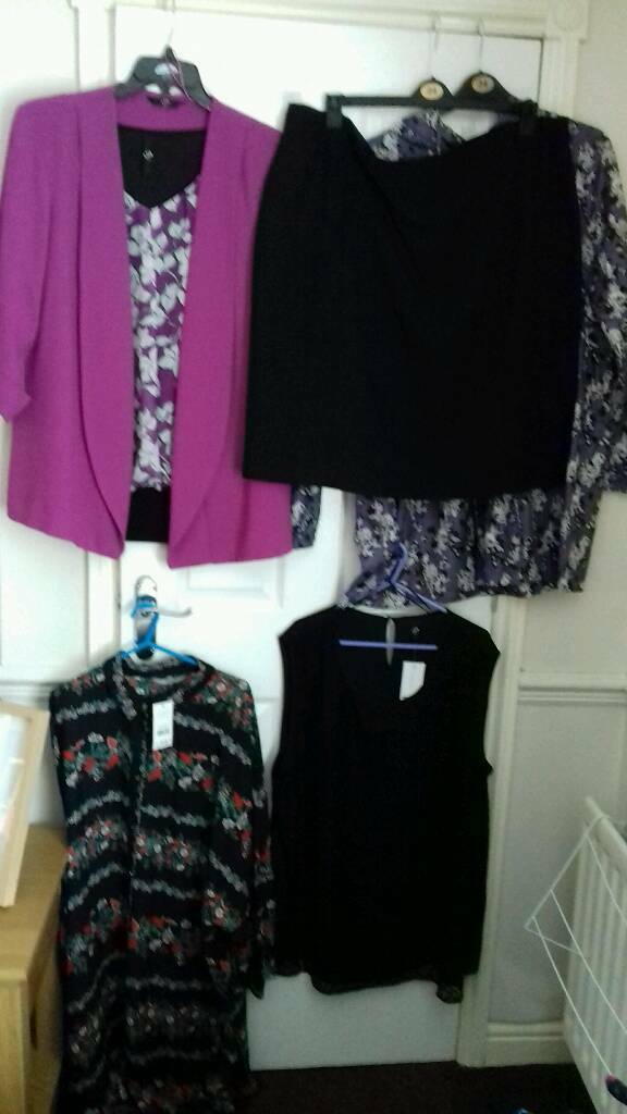 Ladies clothes bundle sizes 22 and 24 mostly Evans