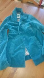Stunning 'white stuff' teal blue coat size 8 as new