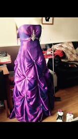 Size 14/16 prom/ bridesmaid dress with matching shawl