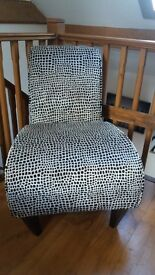 Next Chair in Giraffe pattern