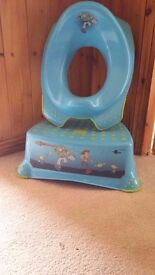 Boys Toy Story Potty Training Seat and Step