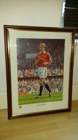 STEPHEN SMITH Signed Limited Edition MANCHESTER UNITED Print DAVID BECKHAM 98/99