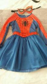 Girls pleated red dress age 4-5