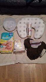 mircowave tomme tippee streriliser nursing pillow baby bottle warmer pamper nappies size 2 unopened