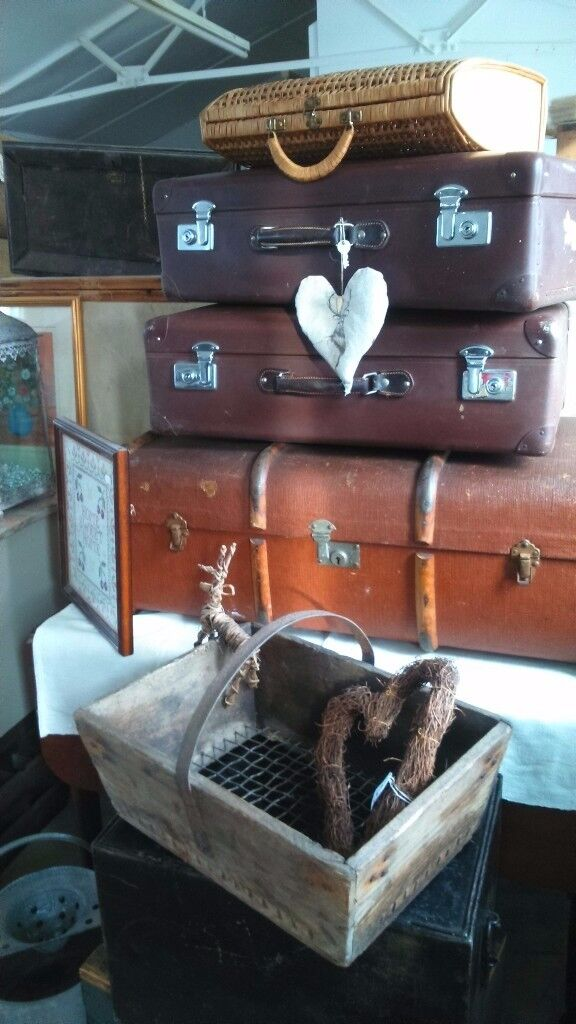 Vintage Trunk AND SUITCASES
