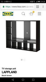 Black/Brown IKEA TV Unit