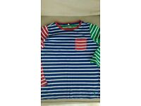 Joules long sleeve stripy top, age 9-10