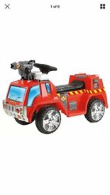 Battery powered ride on fire engine