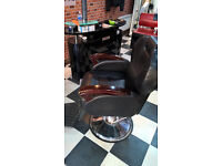 4 barber/ hairdressing chairs reclining