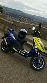 Keeway fact 50cc racing SP moped