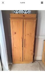 Children's wardrobe Tutti Bambini Honey coloured pine Good condition