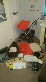 Bugaboo Cameleon, cocoon foot muff, mosquito net, extra covers, sheepskin buggy