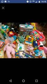 Various items and toys