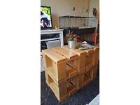 Solid Oak Pallet Style Coffee Table
