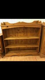 Solid pine shelf unit