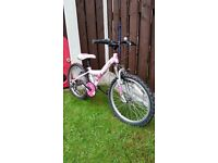 """Girls 20 """" light pink bike in excellent condition can diliver for a small charge"""