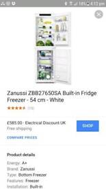 Fridge freezer 50/50 intergrated