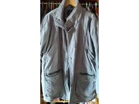 Quality men's cotton jacket in olive green, XXL