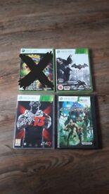 Bundle of 3 Xbox 360 games. Batman Enslaved wrestling