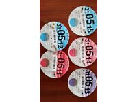 Collection of 18 old style vehicle tax discs