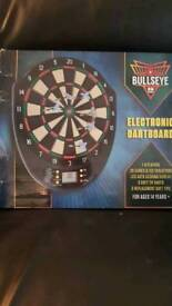 Unopened electronic dart board